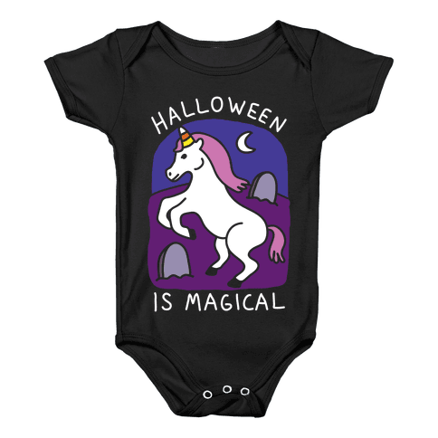 Halloween Is Magical Baby Onesy