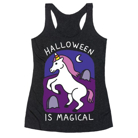 Halloween Is Magical Racerback Tank Top