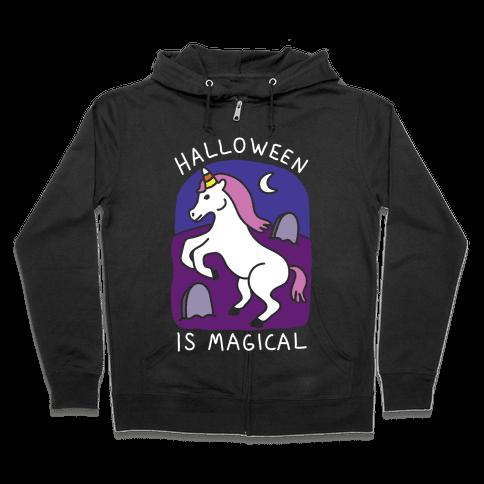 Halloween Is Magical Zip Hoodie