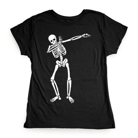 Dabbing Skeleton Womens T-Shirt