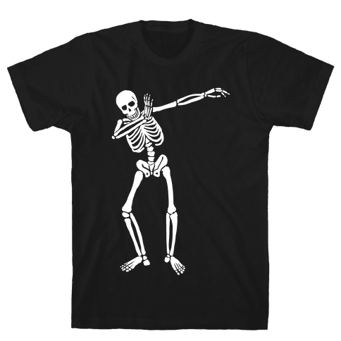 Dabbing Skeleton Mens T-Shirt