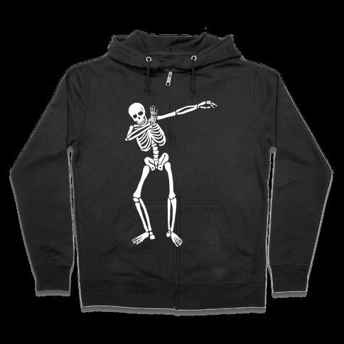 Dabbing Skeleton Zip Hoodie