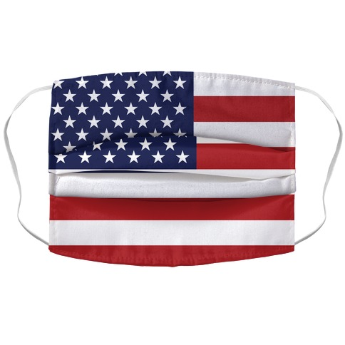American Flag Accordion Face Mask