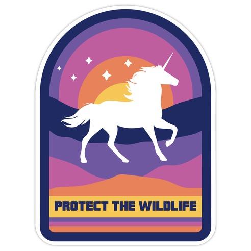 Protect The Wildlife (Unicorn) Die Cut Sticker