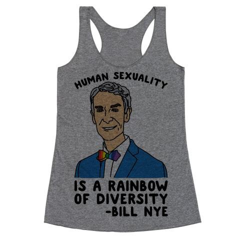 Bill Nye Pride Quote Racerback Tank Top