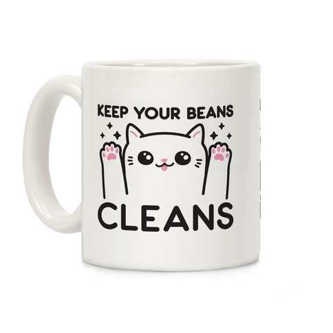 Keep Your Beans Cleans Cat Coffee Mug