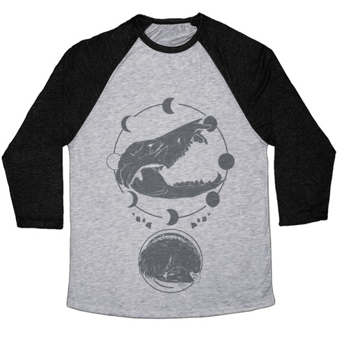 Occult Trash Possum Baseball Tee