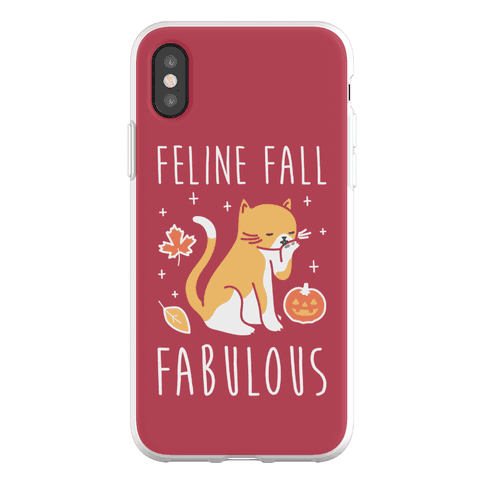 Feline Fall Fabulous Phone Flexi-Case