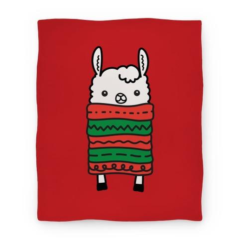 Long Llama Scarf Blanket