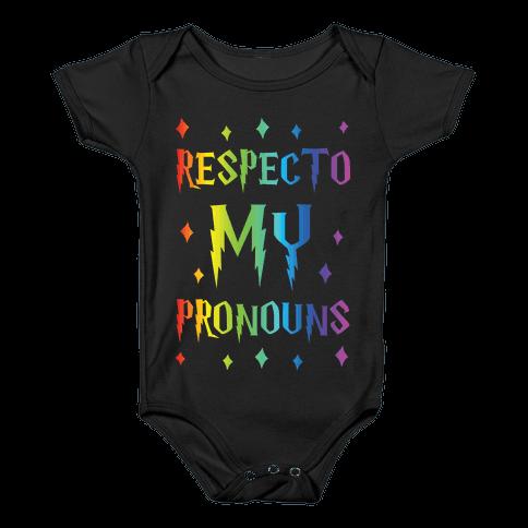 Respecto My Pronouns Baby Onesy
