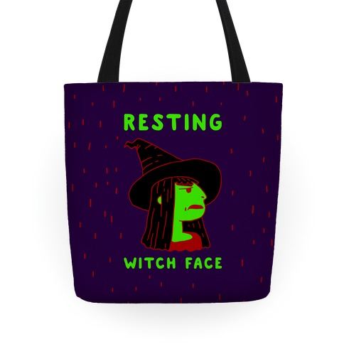 Resting Witch Face Tote