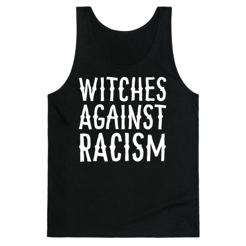 Witches Against Racism White Print Tank Top