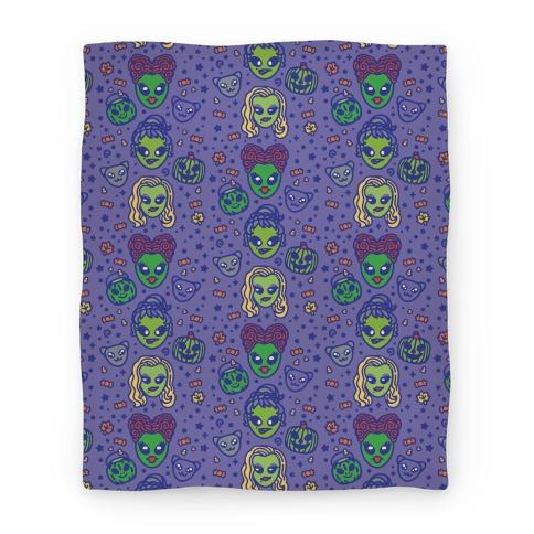 Witch Alien Sisters Parody Blanket