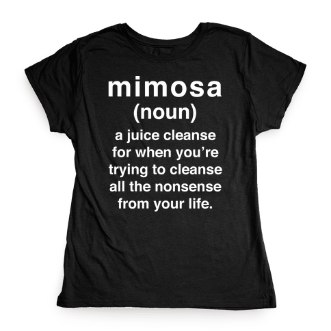 Mimosa Definition Womens T-Shirt