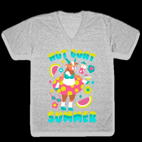 Hot Goat Summer V-Neck Tee Shirt