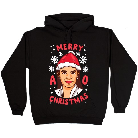 Merry A.O.C. Christmas Hooded Sweatshirt