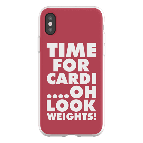 Time for Cardi....Oh look, Weights! Phone Flexi-Case