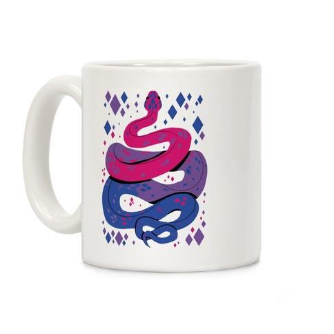 Pride Snakes: bi Coffee Mug