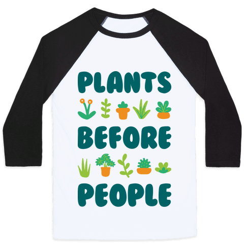 Plants Before People Baseball Tee