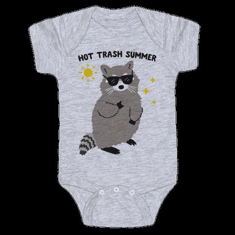 Hot Trash Summer - Raccoon Baby Onesy