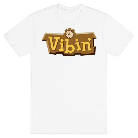 Vibin' Animal Crossing Parody Mens/Unisex T-Shirt