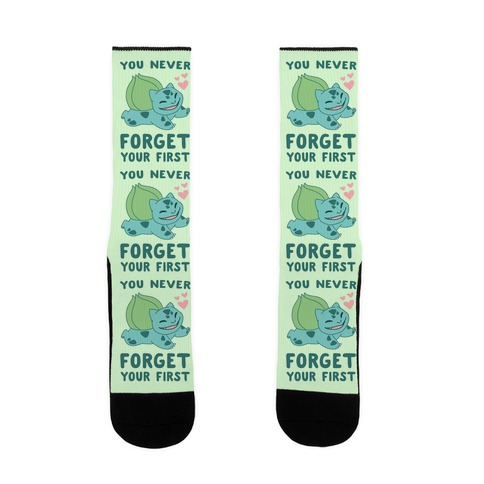 You Never Forget Your First - Bulbasaur Sock