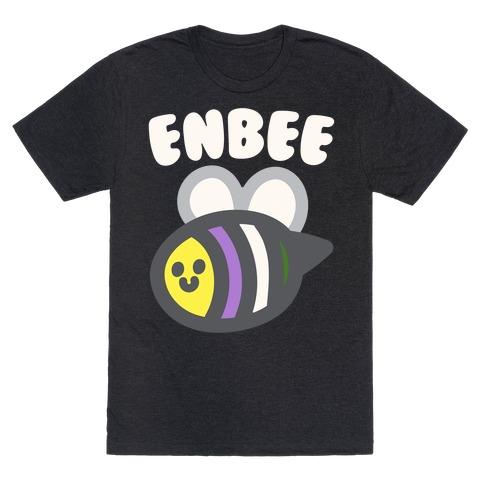 Enbee Enby Bee Gender Queer Pride White Print T-Shirt