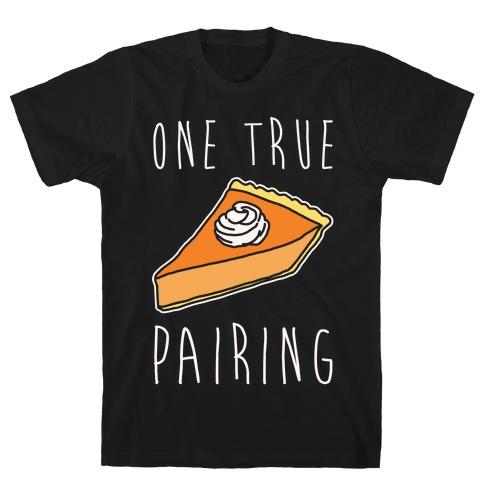 One True Pairing Parody White Print T-Shirt