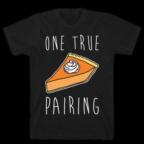 One True Pairing Parody White Print Mens T-Shirt