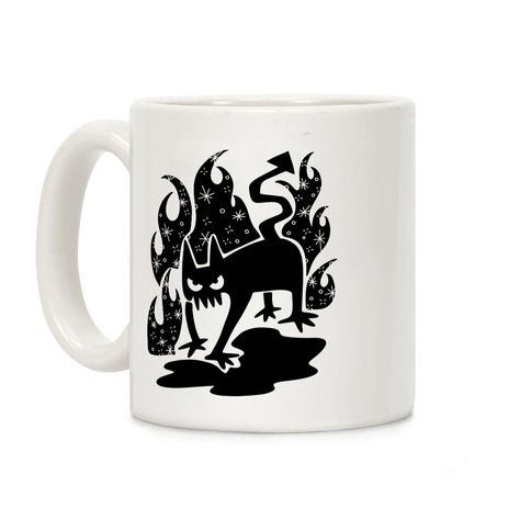 Demon Cat Coffee Mug