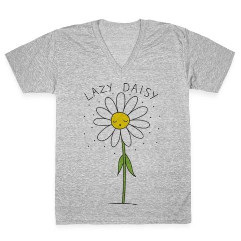 Lazy Daisy V-Neck Tee Shirt