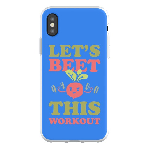 Let's Beet This Workout Phone Flexi-Case
