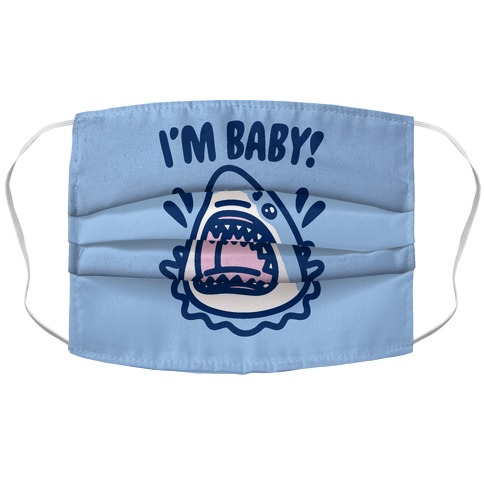 I'm Baby Shark Accordion Face Mask