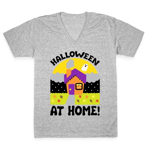 Halloween At Home V-Neck Tee Shirt