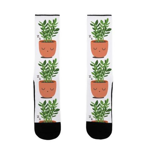 Sleepy ZZ Plant Sock