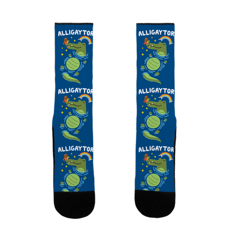 Alligaytor (Gay Alligator) Sock