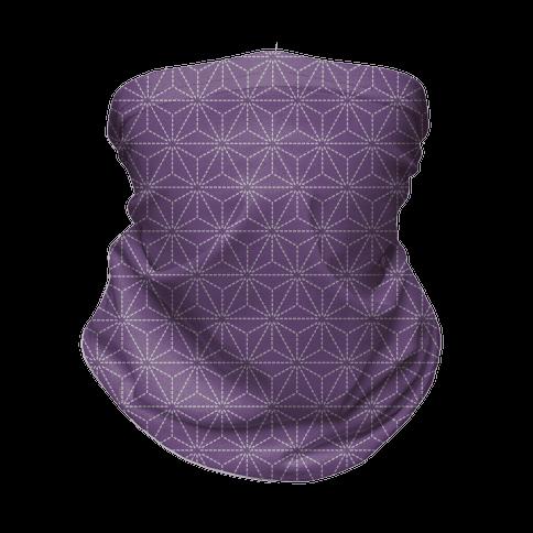 Sashiko Asanoha (Purple) Neck Gaiter
