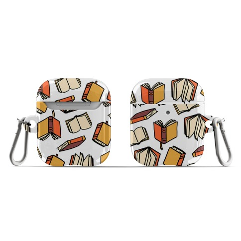 Book Reading Pattern AirPod Case