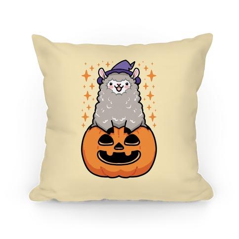 Cute Halloween Alpaca Pillow