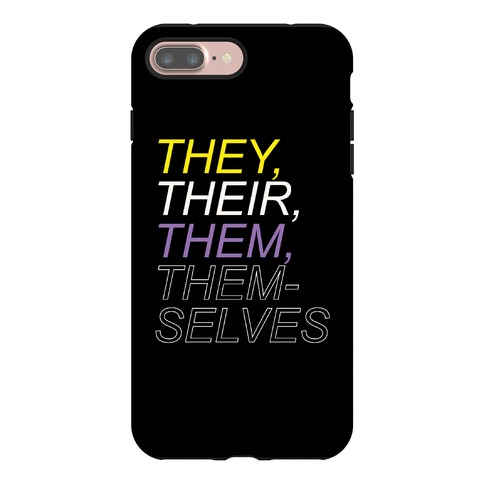 They Their Them Themselves Phone Case