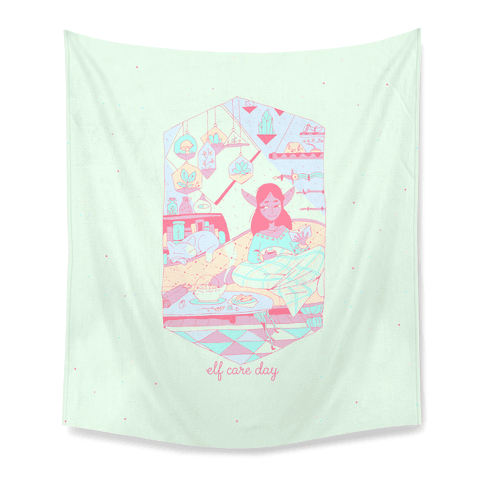 Elf Care Day Tapestry