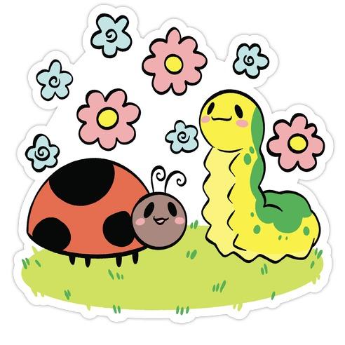 Cute Buggy Friends Die Cut Sticker