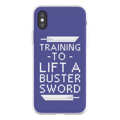Training to Lift a Buster Sword Phone Flexi-Case