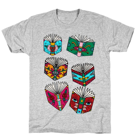 Punk Book Tattoo Pattern T-Shirt