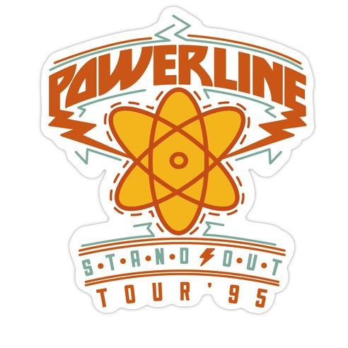 Powerline Tour Die Cut Sticker