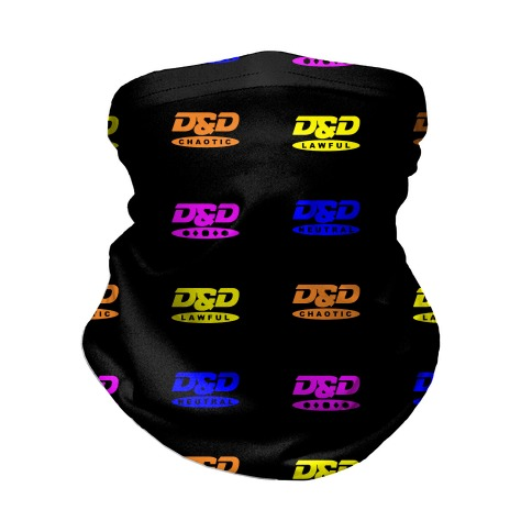 Dungeons and Dragons DVD Logo Parody Neck Gaiter