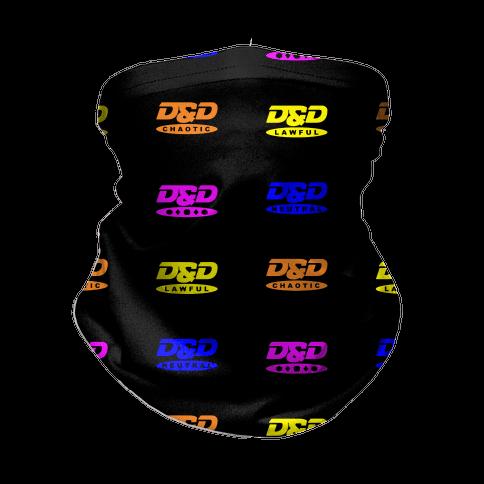 Dungeons and Dragons DVD Logo Parody Neck Gaiter