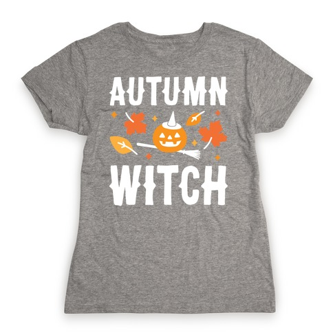 Autumn Witch Womens T-Shirt