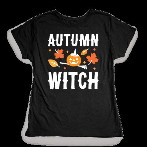 Autumn Witch Womens T-Shirt