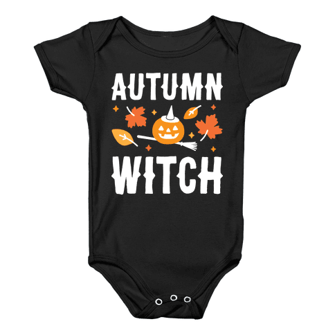Autumn Witch Baby Onesy